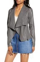 Blank NYC Blanknyc Denim Onto the Next Faux Leather Drape Front Jacket