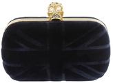 Britannia Navy Velvet Clutch