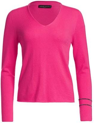 Fabiana Filippi Brilliant-Trim Cashmere V-Neck Sweater