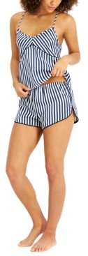 INC International Concepts Inc Striped Cami & Shorts Pajama Set, Created for Macy's