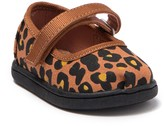 Toms Leopard Print Mary Jane Flat (Baby & Toddler)