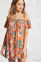 Forever 21 FOREVER 21+ Floral Open-Shoulder Dress