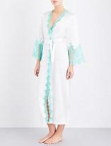 Marjolaine Caprise long silk robe