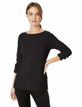 Chaus Women's L/S Ribbed Pullover Sweater