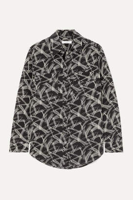 Equipment Signature Printed Silk Shirt - Black