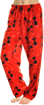 Angelina Red & Black Cat Fleece Pajama Pants - Plus Too
