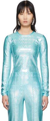 Saks Potts SSENSE Exclusive Blue Sanya Long Sleeve T-Shirt