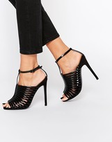 Asos HUMID Caged Heeled Sandals