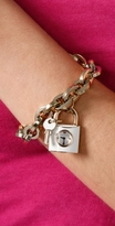 Marc by Marc Jacobs Link Bracelet with Lock & Key Watch Charms