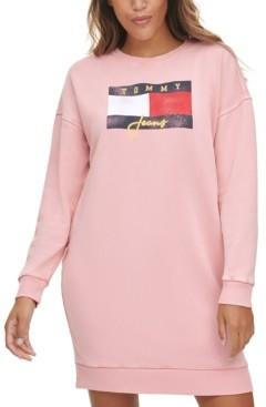 Tommy Jeans Logo Sweatshirt Dress