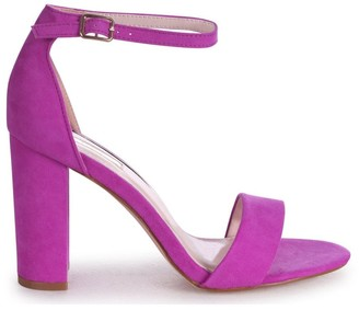 Linzi NELLY - Purple Suede Suede Single Sole Block Heel