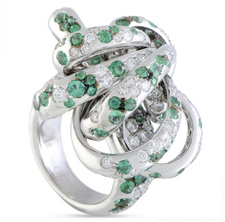 de Grisogono Certified 18K 4.20 Ct. Tw. Diamond & Emerald Ring