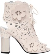 Roger Vivier 95mm Podium Laser-Cut Leather Boots