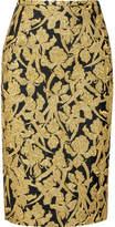 Michael Kors Metallic Jacquard Skirt - Gold