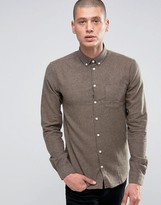Minimum Pelham Slim Flannel Shirt Buttondown In Slim Fit