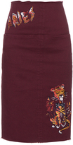 Aries Romford embroidered denim skirt