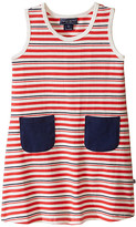 Toobydoo Tank Dress w/ Navy Pockets (Infant/Toddler)