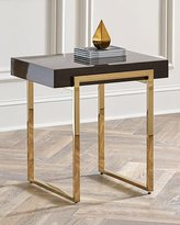Interlude Brown & Gold Side Table