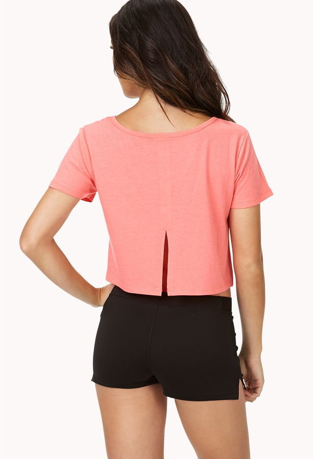 Forever 21 Split Back Workout Tee