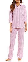 Lauren Ralph Lauren Striped Pique Pajamas