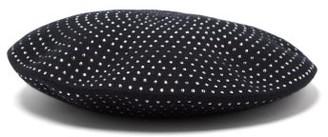 Saint Laurent Crystal-embellished Wool Beret - Womens - Black