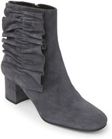 Alberto Zago Grey Ruched Suede Ankle Boots