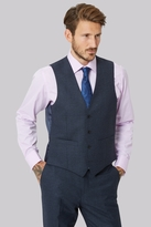Moss Bros Tailored Fit Ink Texture Waistcoat