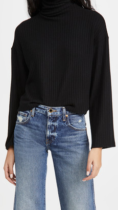 Enza Costa Cropped Turtleneck