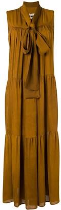 UMA WANG tiered maxi dress