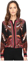 Versace Long Sleeve Printed Tunic Women's Blouse