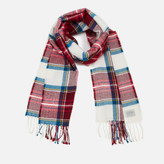 Joules Women's Bracken Soft Scarf - Soft Red Check