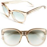 Saint Laurent Cat's Eye Sunglasses Beige One Size