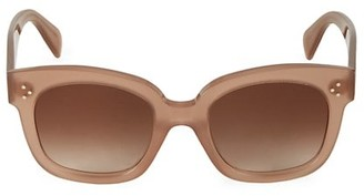 Celine 54MM Square Plastic Sunglasses