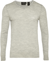 Oxford Merino Wool Tipping V-Neck Pullover
