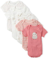 Rene Rofe Newborn/Infant Girls) 5-Pack Knit Bodysuits