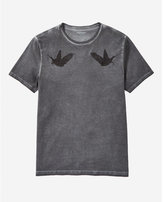 Express embroidered birds graphic t-shirt