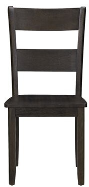 Gracie Oaks Platte Ladder Back Side Chair in Walnut