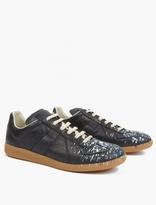 Maison Margiela Black Paint-Splatter Pollock Sneakers