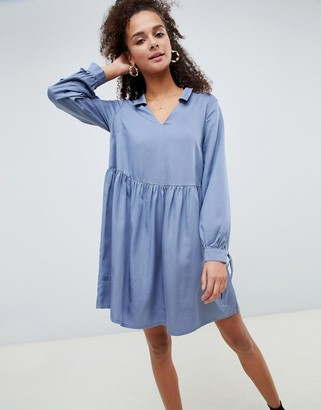 Asos Design DESIGN casual collared smock mini dress