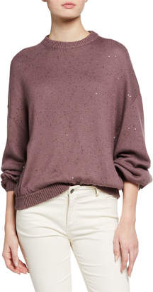 Brunello Cucinelli Sequin Cashmere/Silk Sweater