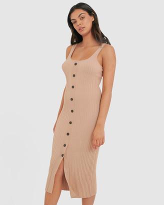 Forcast Katy Ribbed Dress