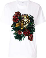 P.A.R.O.S.H. tiger embroidered T-shirt