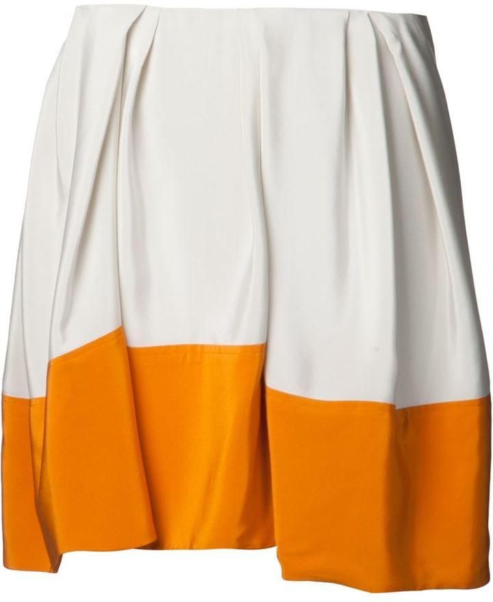 3.1 Phillip Lim colour block umbrella skirt