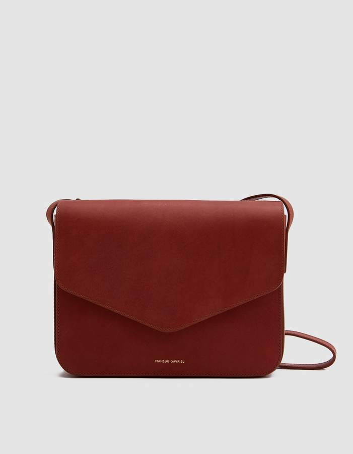 Mansur Gavriel Envelope Crossbody in Brandy