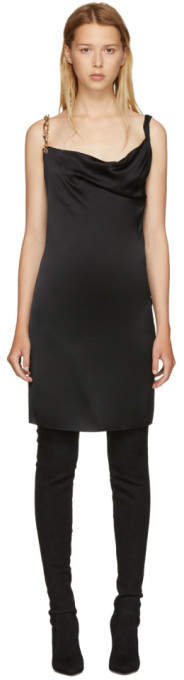 Versus Black Gold Strap Dress