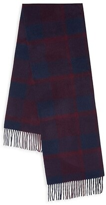 Saks Fifth Avenue Boxed Plaid Cashmere Scarf