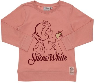 Wheat Snow White Print Cotton Jersey T-Shirt