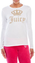 Juicy Couture Black Label Glitter Crown Tee