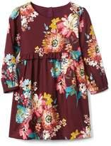 Gap Floral ruffle waist dress