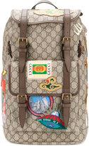 Gucci GG Supreme multi-pocket backpack - women - Polyester/Polyurethane - One Size